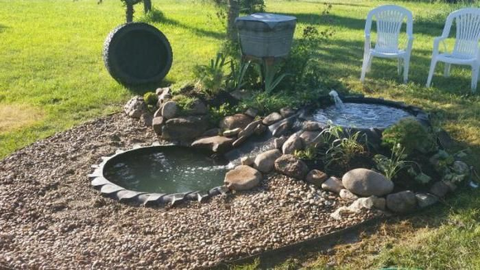 How to make a small DIY pond from a tire for your garden