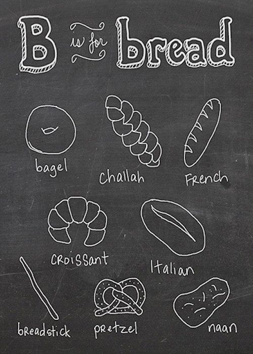 B+is+for+Bread++5x7+print+by+TinaJett+on+Etsy,+$10.00
