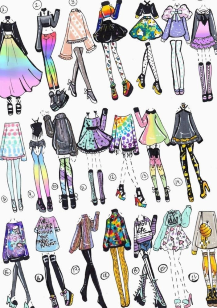 10 Anime Outfits Design Casual Fashion Design Drawings Sketches Character Design