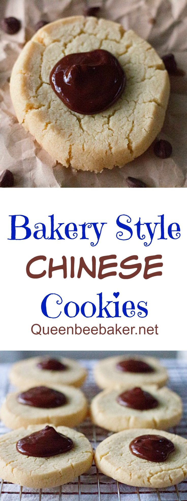 Bakery Style Chinese Cookies | Queenbeebaker.net #chinesecookies #cookies #bakerystylecookies #bakerystylechinesecookies