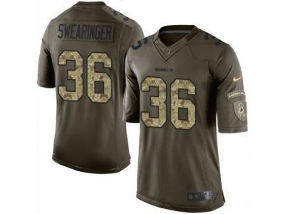 Nike Washington Redskins 36 DJ Swearinger Limited Green Salute to Service NFL Jersey