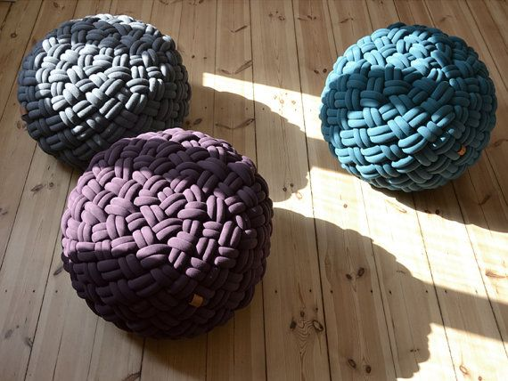 CHRISTMAS SALE 20 off  KNOTTY floor cushion by kumekodesign, €372.80