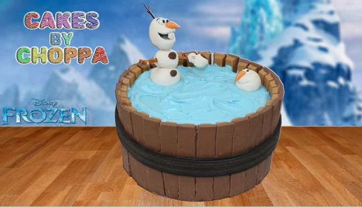 Frozen Olaf  birthday cake howto video tutorial and instructions. How cool is that!