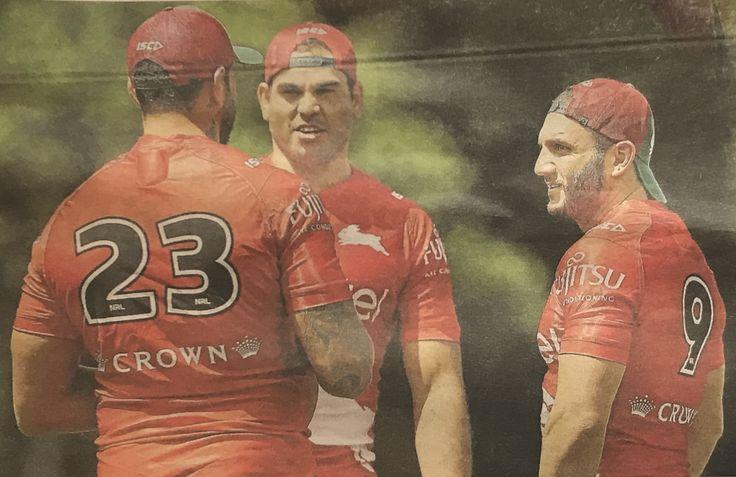 South Sydney's John Sutton, Greg Ingles and Robbie Farah