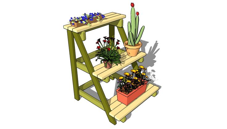 DIY - Outdoor plant stand plans