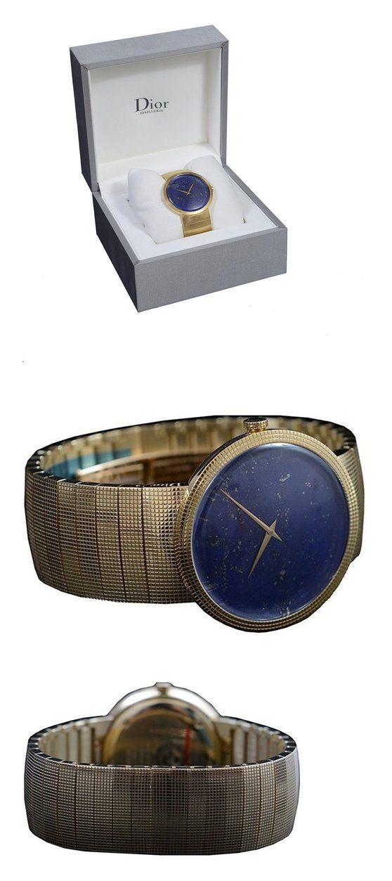 Christian Dior La D De Dior Lapiz Lazuri Dial Solid Swiss Gold Watch #watch #christiandior #wrist_watches #watches #women #departments #shops #men