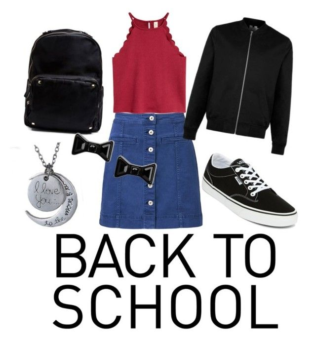 Back to School outfit by chrysapan on Polyvore featuring polyvore fashion style Witchery Vans Madden Girl Marc by Marc Jacobs clothing