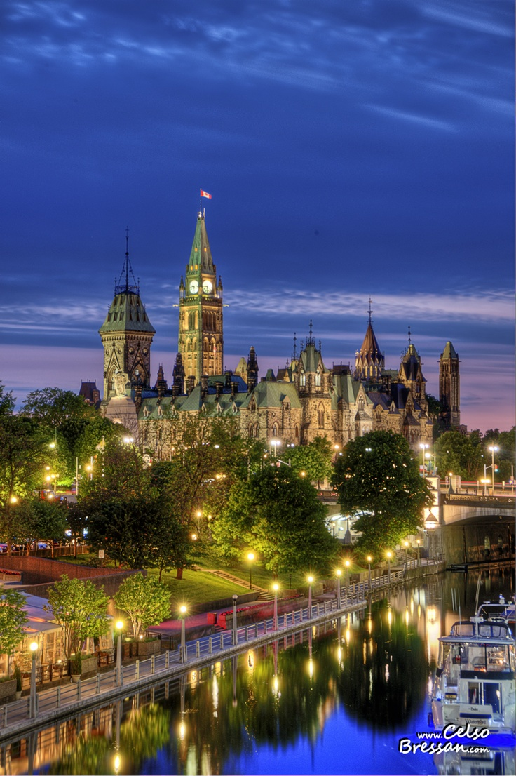 Downtown Ottawa at the magical hour.
