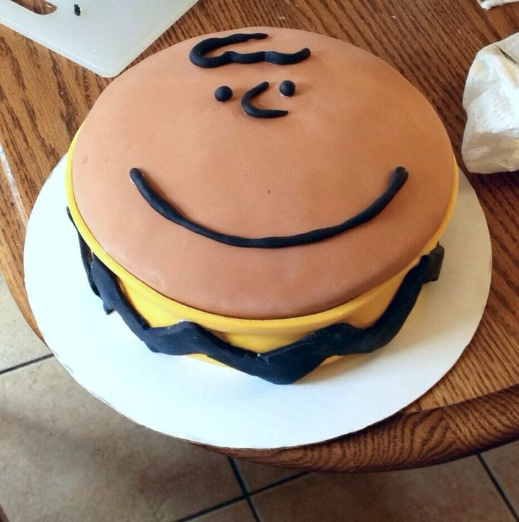 Charlie Brown Birthday Cake