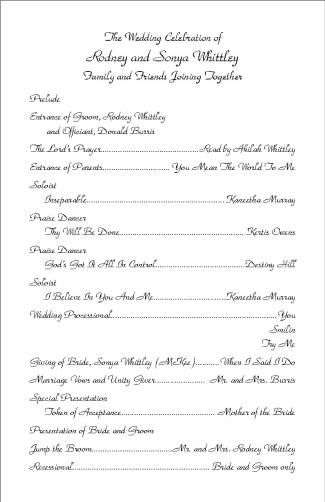 Marriage Ceremony Outline
