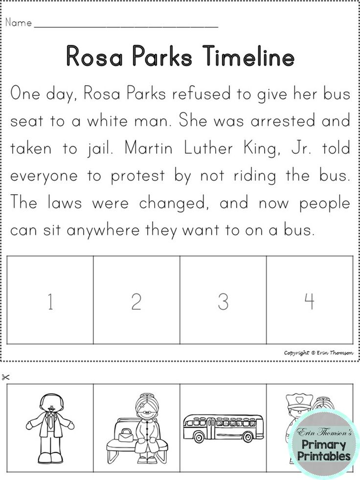 Rosa Parks Timeline (Sequencing activity) ~ Martin Luther King, Jr and Rosa Parks packet
