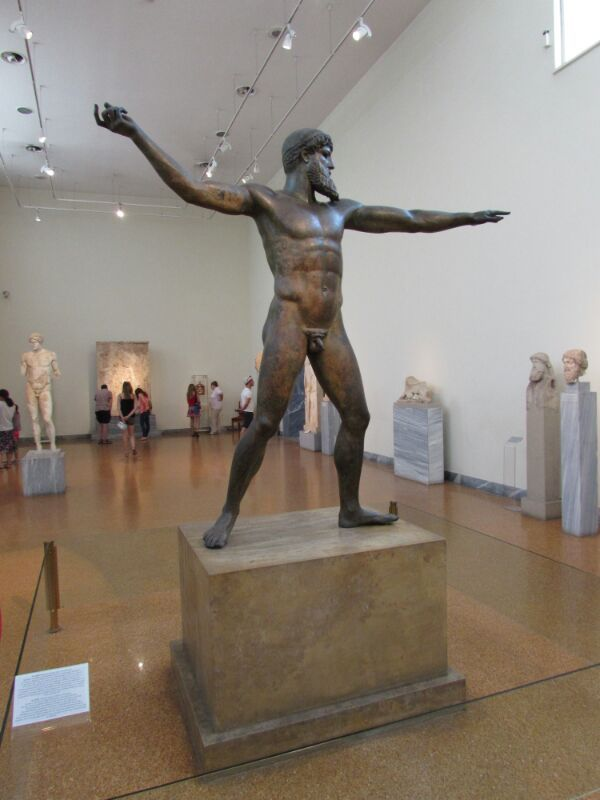 The Artemision Bronze - Is this Poseidon or Zeus? On display at the National Archaeological Museum of Athens in Greece.