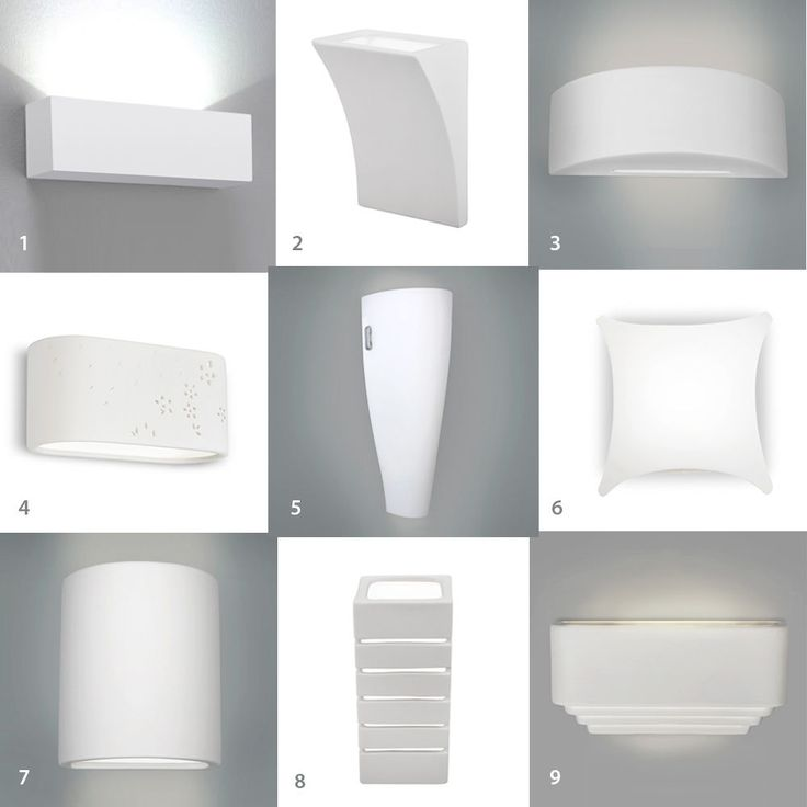 Single / Pair of LED Indoor White Ceramic Wall Light Fittings Uplighter Lights in Home, Furniture & DIY, Lighting, Wall Lights | eBay
