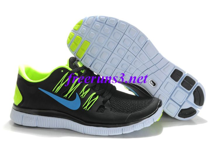 e80l8y Mens Nike Free 5.0 Black Blue Volt Shoes