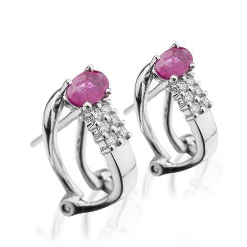 Cercei cu rubine si diamante B901