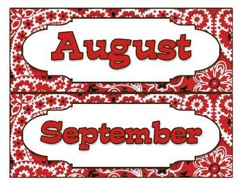 Western-Themed Calendar Months (FREE!)