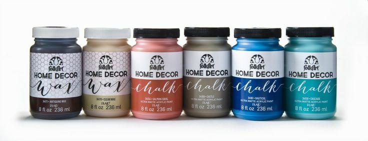 Ultra-matte Chalk Finish FolkArt Home Décor Chalk No-prep