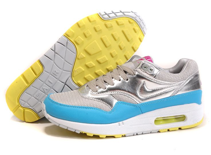 Discount Authentic Mens Nike Air Max 87 Shoes White/Baby Blue