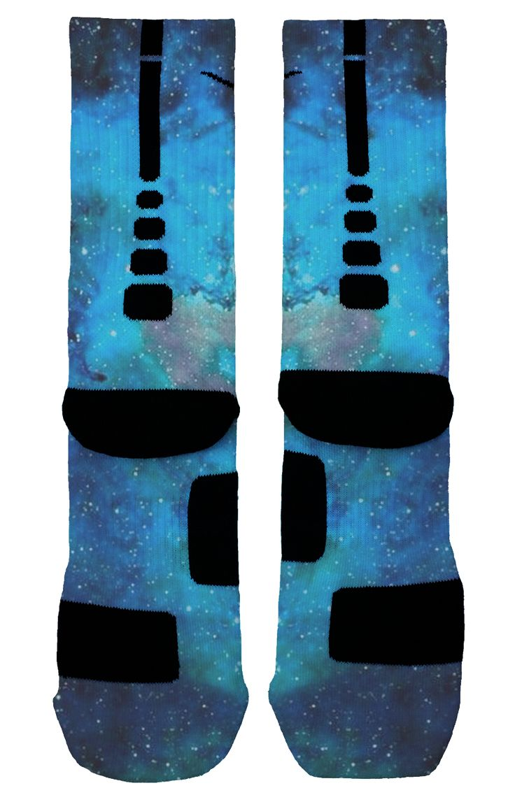 Baby Blue Galaxy Custom Nike Elites