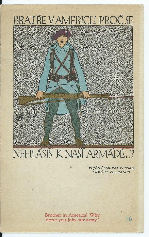 WW I Czech Legion Propaganda Postcard V Preissig