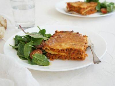 Curried Lentil Lasagne recipe