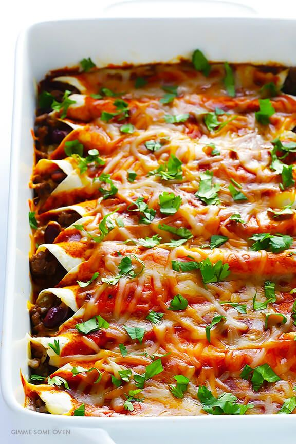 Beef Enchiladas Gimme Some Oven Recipe Best Ground Beef Recipes Mexican Food Recipes Easy Beef Dinner