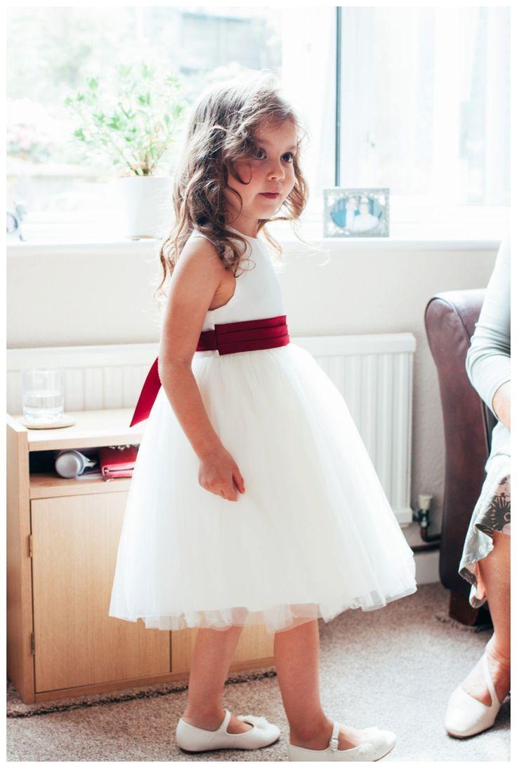 Cute Flower girl ready for wedding