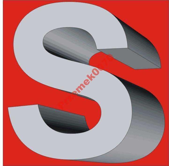 Litery 3D STYROPIAN 30cm litera, cyfry, reklama