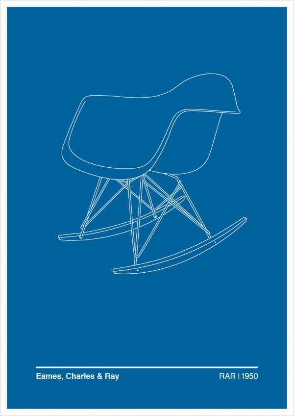 Illustration of Charles and Ray Eames' RAR Chair via Trendland http://www.nest.co.uk/product/vitra-rar-eames-plastic-armchair