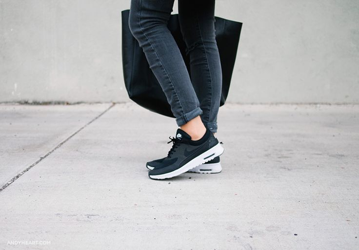 Black Fashion Sneakers Women Girls wearing sneakers