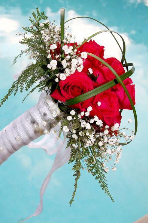 Beautiful Red Roses Wedding Bouquet San Jose