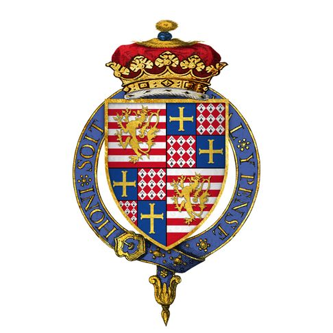 Coat of arms of Sir Charles Brandon, 1st Duke of Suffolk, KG.png