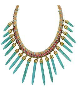 Colier la baza gatului, cu aplicatii turquoise New spring summer collection necklace