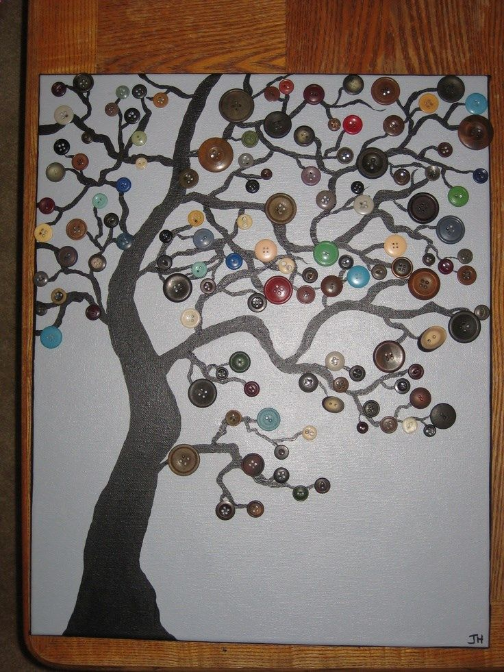 Button Tree. Ive made one of these. Easy and cute.
