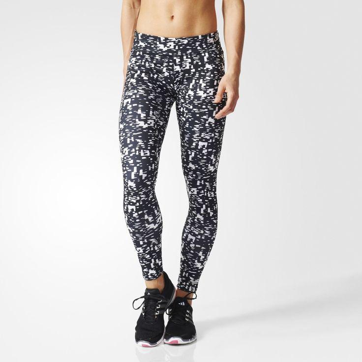 adidas Ultimate Fit tights - Hvid/sort, str. M