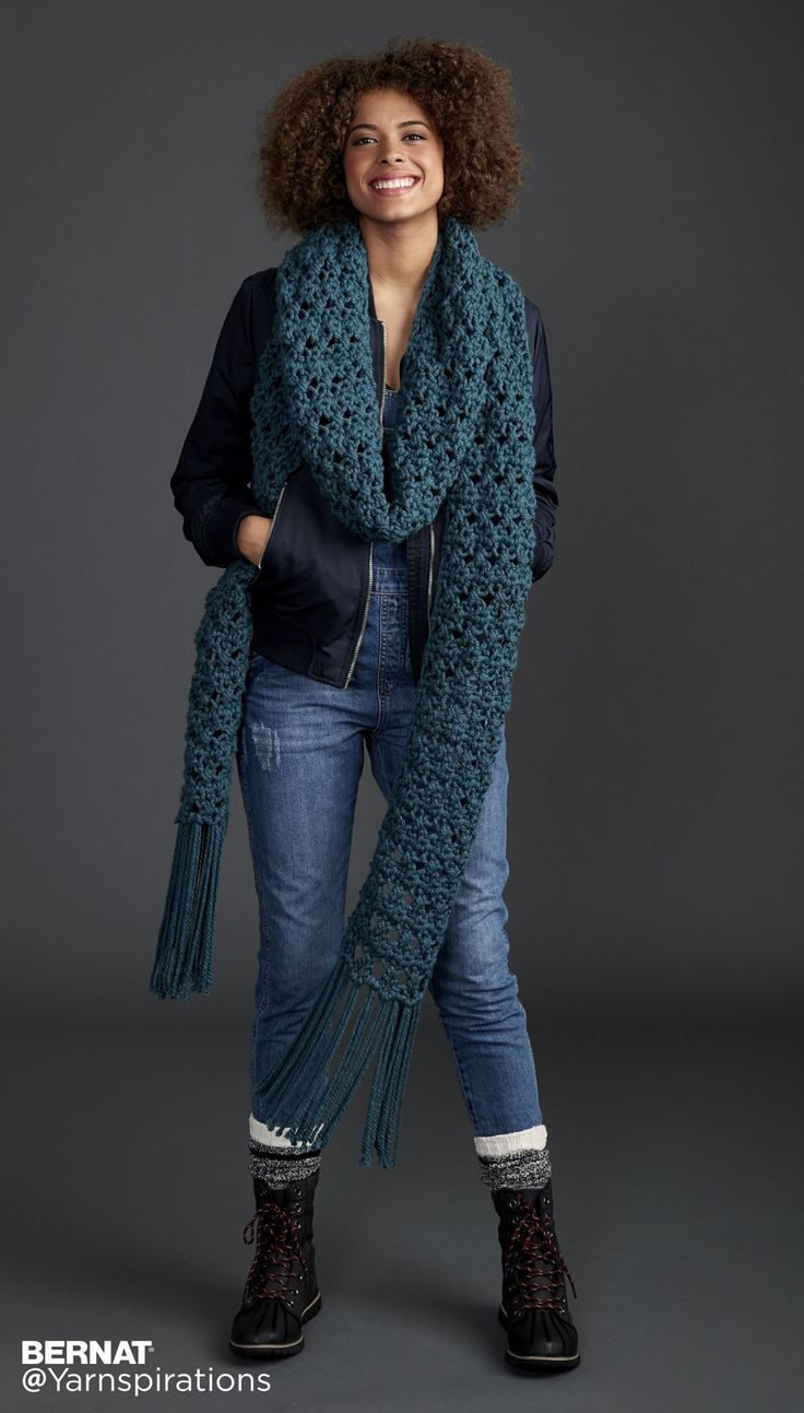 Free Pattern The Super Scarf - Your Biggest Accessory this Season…