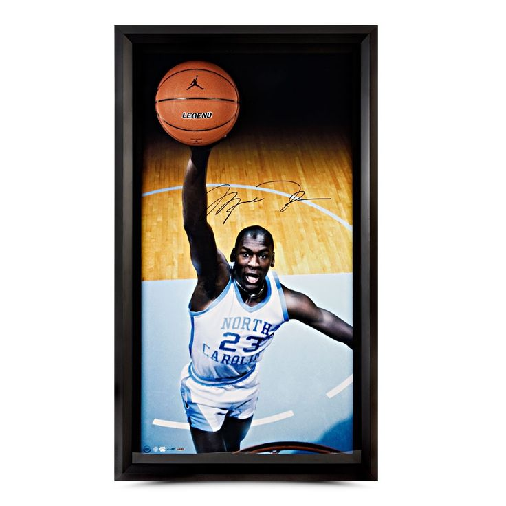 Autographed Michael Jordan UNC Breaking Through
