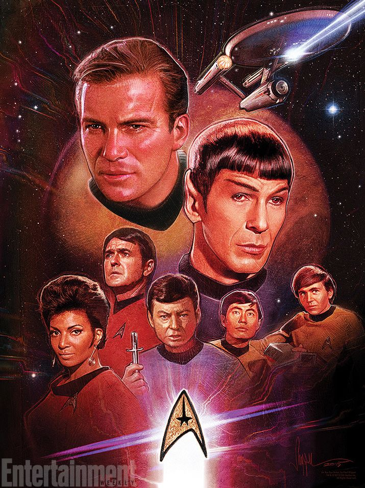 "... and its variant include Star Trek creator Gene Roddenberry with the Enterprise and its crew above him. Titled ""Gene's Dream,"" the print is available in ..."