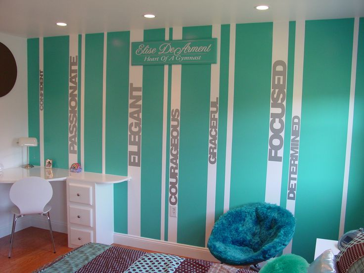 gymnastics bedding | Makeover of a young gymnast's bedroom | Project Dragonfly | Duaine ...