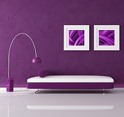 Purple is the link between red and blue. Purple stands for dignity, respect and reflection. It boosts our self-esteem, intuition and insight. Red Purple is warm and lively. Blue Purple is cool and passive. / Paars interieur