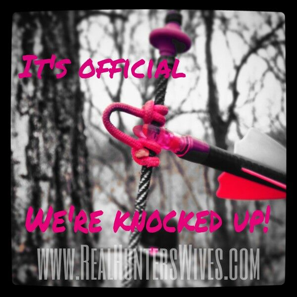 Real Hunter's Wives pregnancy announcement. #archery #hunterswife #rut