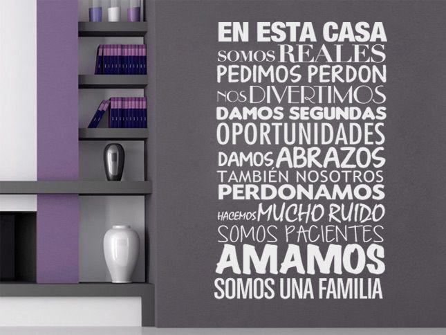En Esta Casa Vinilo Decorativo para Paredes de wall-decals por DaWanda.com