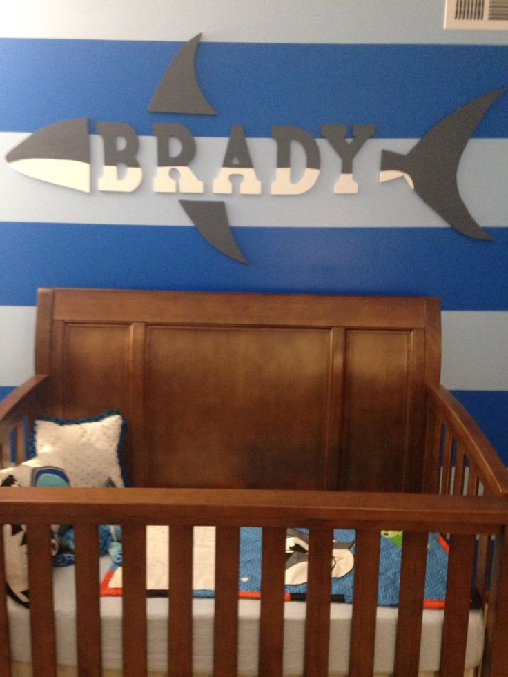 Name Above The Crib In The Nursery! Baby Shark