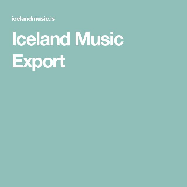 Iceland Music Export