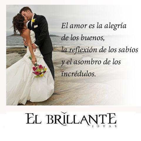 #ElBrillanteFrases #ElBrillanteJoyas  Anillos de compromiso y argollas de matrimonio http://www.elbrillantejoyeria.com.co/