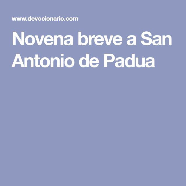 Novena breve a San Antonio de Padua