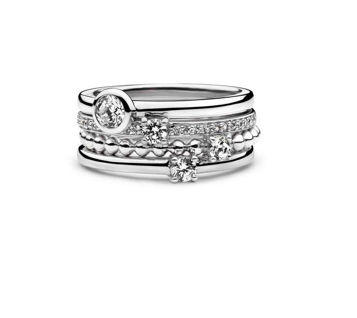 Ti Sento Milano Oval Eternity collection rings