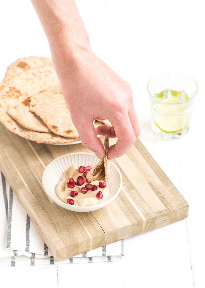 Supermakkelijk recept voor flatbread van volkorenmeel. Makkelijk, snel en voedzaam.