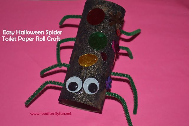 Food, Family, Fun.: Halloween Toilet Paper Roll Spider Craft