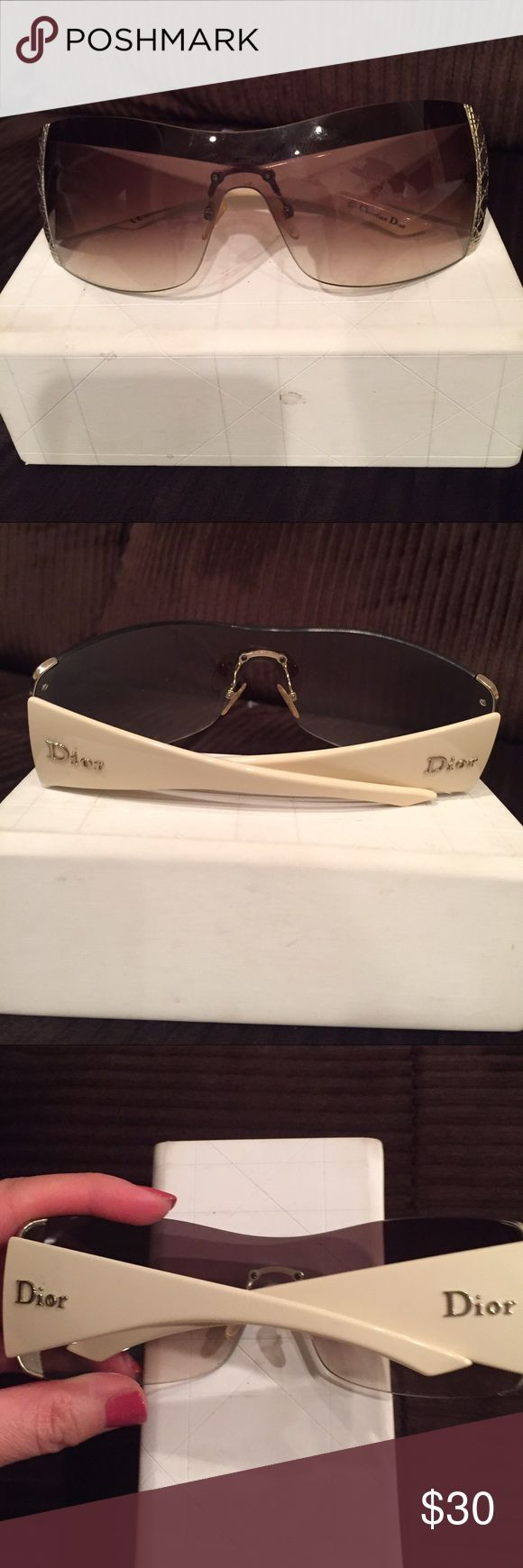Christian Dior sunglasses Christian Dior sunglasses older style in a good condition and yes it's authentic Christian Dior Accessories Sunglasses